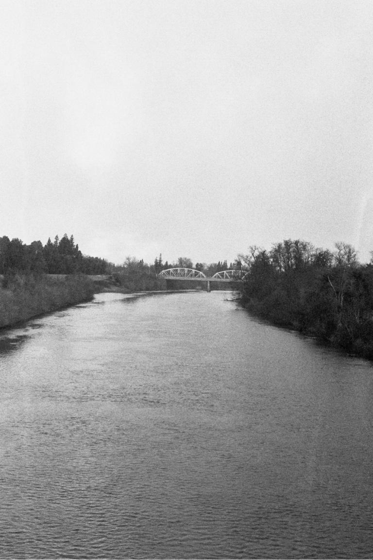 Bridge, Black and White Photo