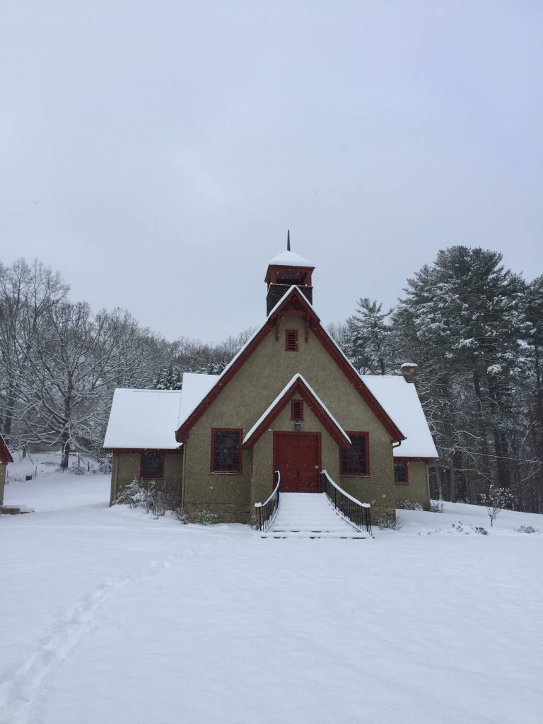 Snow Covered Church, Weaverville North Carolina